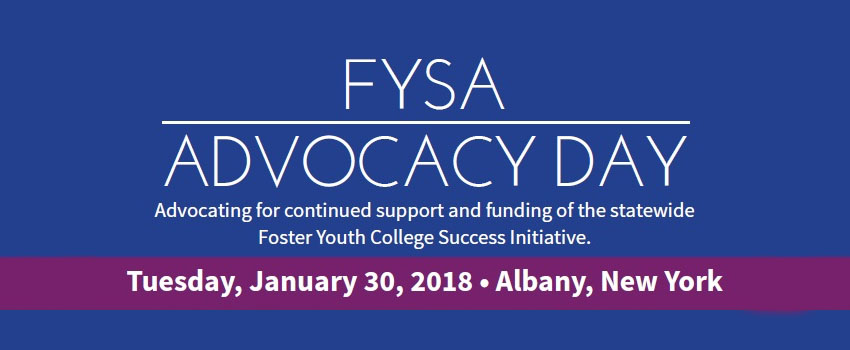 FYSA Advocacy Banner. Tuesday January 30_ 2018. Albany NY.